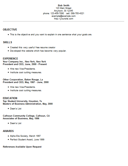 second most popular resume template style 2
