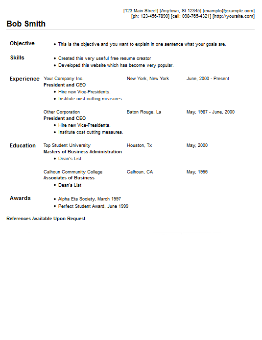 compact resume template style 5 resume 4 free